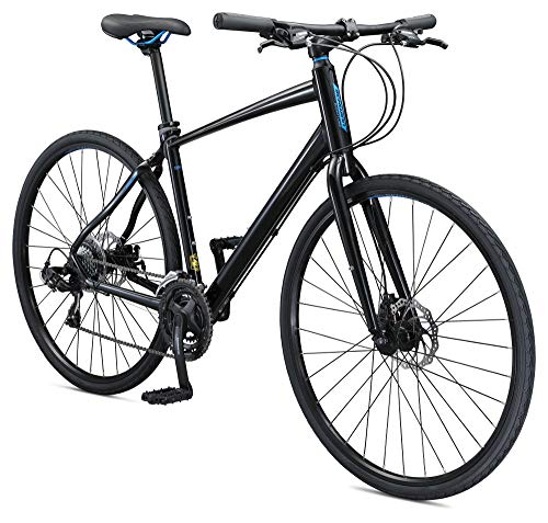 Schwinn Vantage F3 Mens/Womens Sport Hybrid Bike, 21-Speed Drivetrain, 58cm/Large Aluminum Frame, Flat Bar, Disc Brakes, Smooth Ride Technology, Black