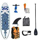 MHMT Sup Stand Up Tablas Hinchables De Paddle, Antideslizante Surf Racing Pesca Isup Inflable Paddle Board para Adultos Jóvenes Principiantes con Kit De Reparación, Chaleco Salvavidas