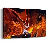 Pangoo Art Japanese Anime Naruto Art Decor Framed Print Canvas Poster Painting Wall Decor 12 x 16 Inch