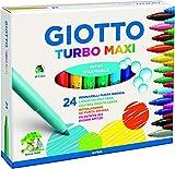 Selezione Varzi dal 1956 Juego escolar de rotuladores Turbo Maxi 24 + lápices Giotto Mega 12 + Giotto Témpera de dedos 6 x 100 ml.