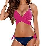 MORCHAN Push-up Soutien-Gorge rembourré Maillot de Bain Maillot de Bain Sexy Femmes Bikini Maillot de Bain (S, Rose Vif)