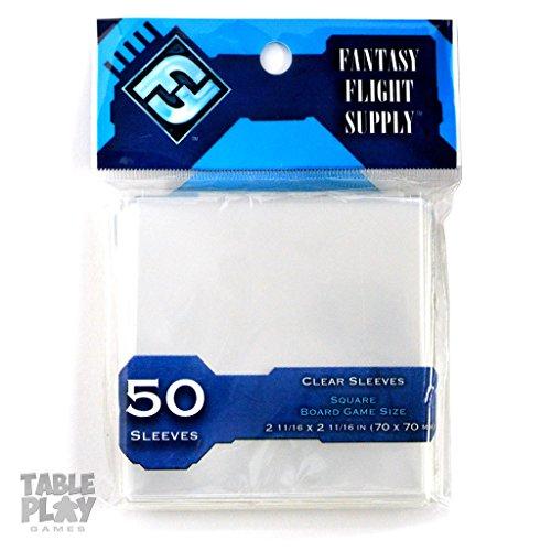 10x50 protège-cartes transparents Carré (70x70 mm) - Asmodee