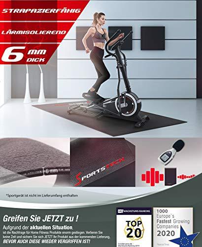 Sportstech Bodenschutzmatte für Fitnessgeräte Heimtrainer 2