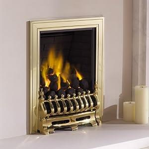Living Flame Gas Fire Brass 'Blenhiem')