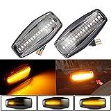 LED Luz de señalización de flujo lateral Luz indicadora de giro para Hyundai Elantra Getz Sonata XG Terracan Tucson Accent Matrix Trajet Coupe i10 (Blanco)