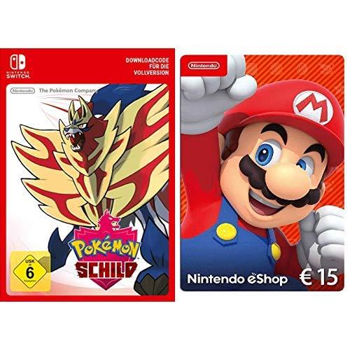 Pokémon Schild [Switch Download Code] + Nintendo eShop 15 EUR Guthaben [Download Code]