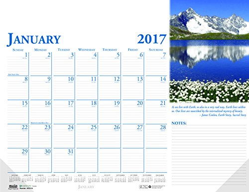 "House of Doolittle 2017 Monthly Desk Pad Calendar, Earthscapes Scenic, 22 x 17"" (HOD144-17)"