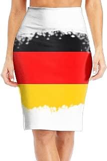 TO-JP Women's Classic Vintage German Flag Long Pencil Skirt Knee Length Dress