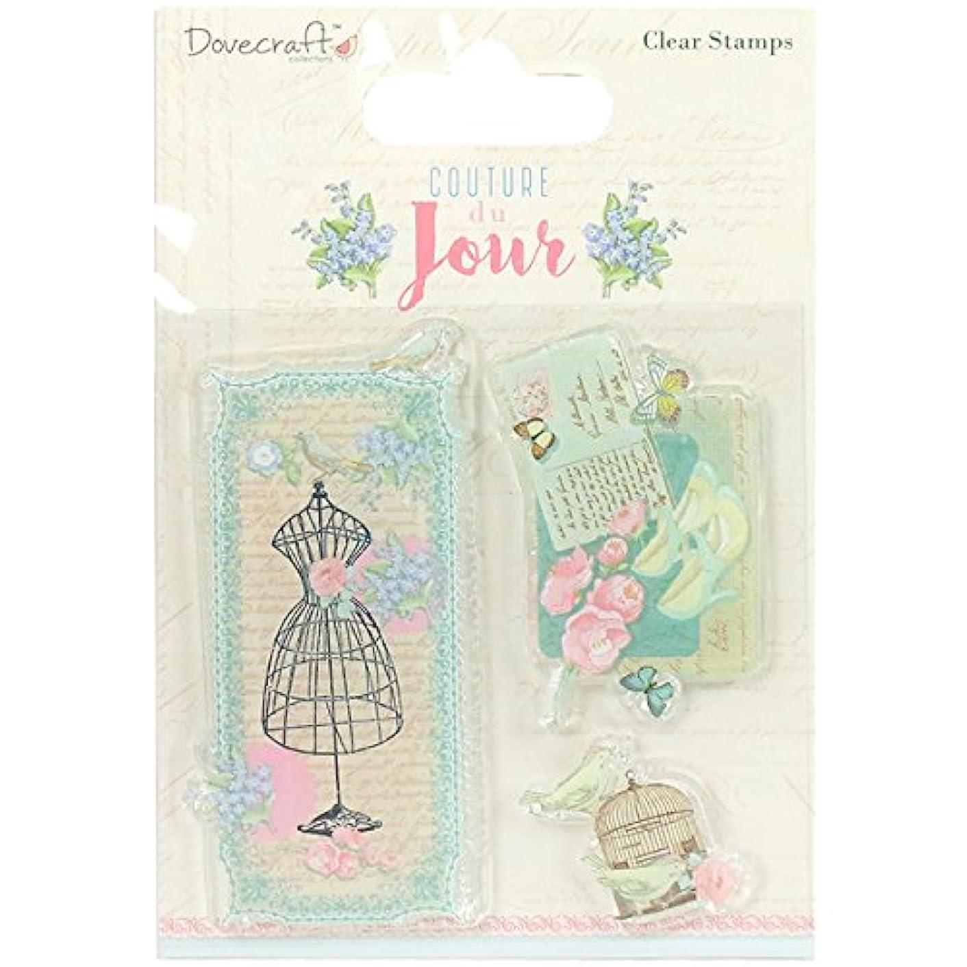 Trimcraft DCSTP081 Dovecraft Couture du Jour Clear Stamps-Images