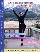 Easy Exercise 3 DVD set Fabulous Forever Level 1 Trilogy for Beginners, Seniors & Boomers by Mirabai Holland, Cardio, Strength and Stretch DVDs