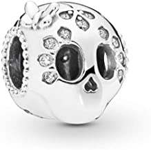 PANDORA Sparkling Skull 925 Sterling Silver Charm - 797866CZ