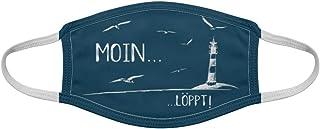 Moin Löppt Möwen LEuchtturm und Meer Norddeutschland Nordsee Ostsee Style   Gesichtsmaske