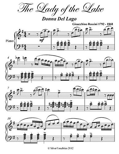 Lady of the Lake Donna Del Lago Elementary Piano Sheet Music