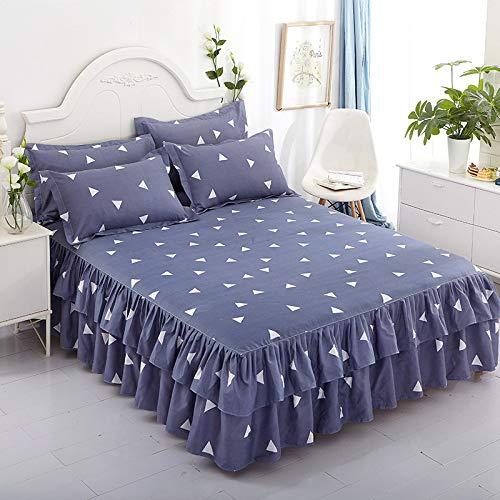 huyiming Gebruikt voor [Dubbel bed rok + paar kussenslopen] nieuwe Koreaanse versie van het bed rok drie sets van spreien 180x200cm