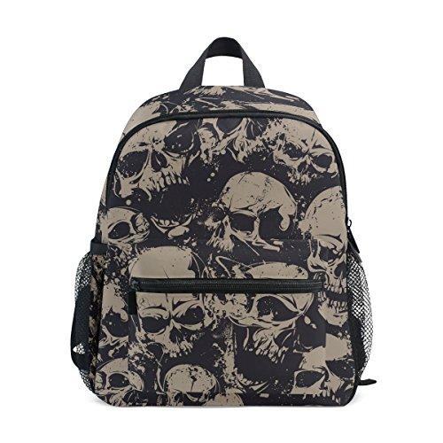 TIZORAX Vintage Dead Skull Lightweight Travel School Backpack for Boys Girls Kids
