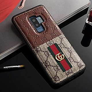 Galaxy S10 Case- US Fast Deliver Guarantee FBA- Elegant Luxury PU Leather Designer Case with Card Holder Slot Cover for Galaxy S10 Brown
