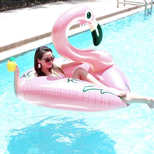 Beach Toy  - Gigante Galleggiante Gonfiabile Fenicottero Rosa, Light Pink Flamingo Pool Party
