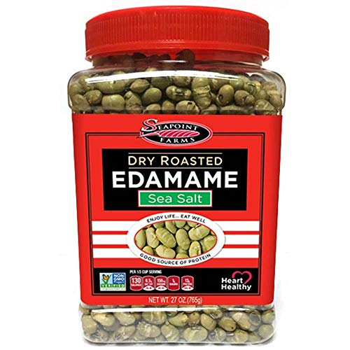 Lowest Prices! Seapoint Farms Sea Salt Dry Roasted Edamame, Healthy Gluten-Free Snacks, 27 oz