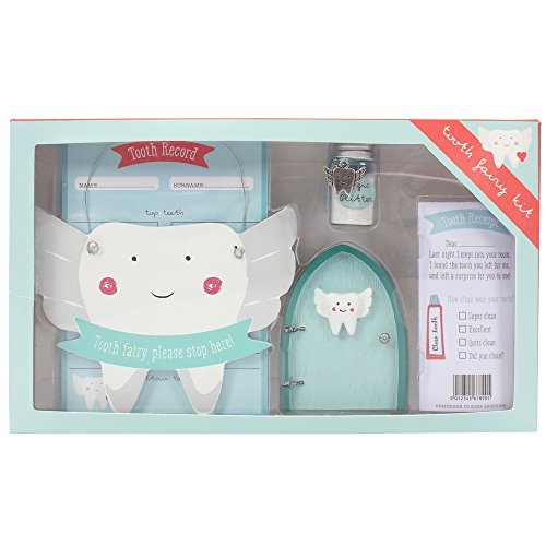 Jones Home and Gift Qualcosa di Diverso all' Ingrosso Tooth Fairy Set, Blu