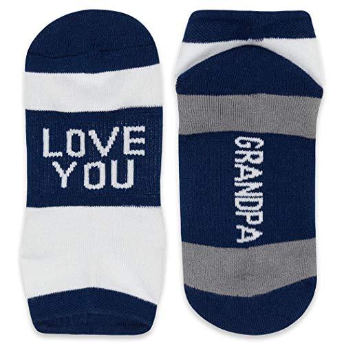 Inspirational Athletic Running Socks   Woven Low Cut   Love You Grandpa