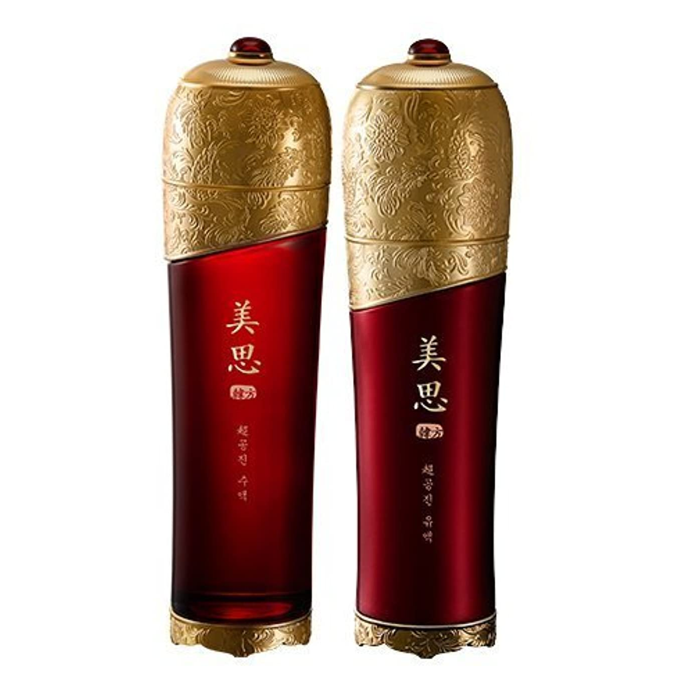 山岳周囲文房具MISSHA(ミシャ) 美思 韓方 チョゴンジン 基礎化粧品 スキンケア 化粧水+乳液=お得2種Set