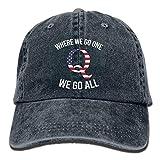Qアノン私たちがどこへ行くか私たちはすべてヴィンテージウォッシュ染め父父の帽子調節可能な野球帽