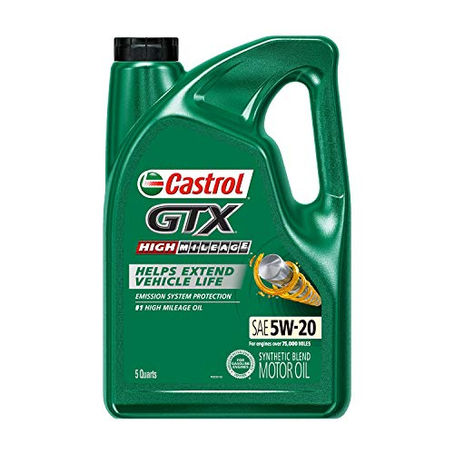 Castrol 03100 GTX High Mileage 5W-20 Motor Oil - 5 Quart