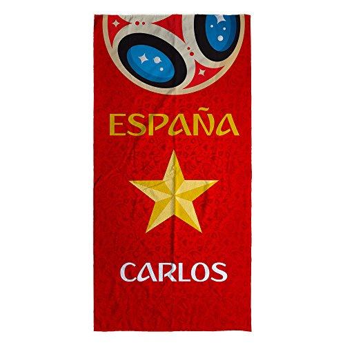 LolaPix Toalla Selección Española Personalizada algodón ESPAÑA Mundial. Varios tamaños