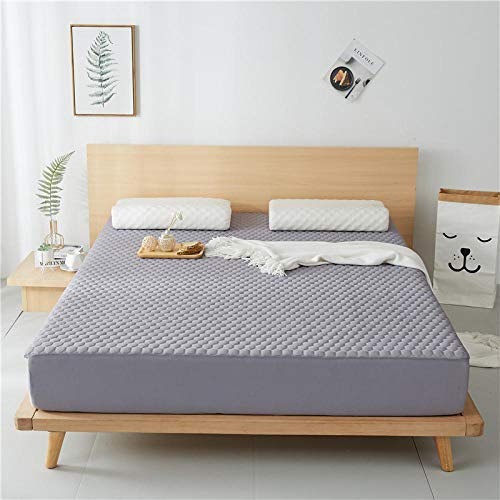 JRDTYS Microfibre Flat Sheet - No-Iron Bed Sheet is Breathable,SoftOne-piece washable ice silk protective cover-Gray + pillowcase pair_180*200cm