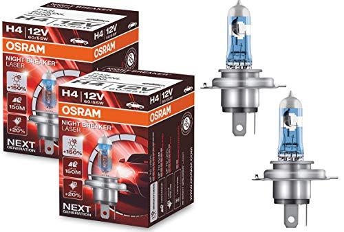Osram 64193nl Night Breaker Laser Next Generation, H4, 150% más de luz (2unidades)