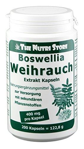 Boswellia Weihrauch 400 mg Extrakt vegane Kapseln 200 Stk. - 6-7 Monatsvorrat