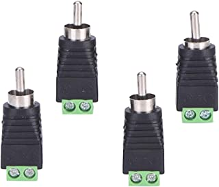 D DOLITY 4 Pcs Speaker Wire Cable to Audio Male RCA Connector Adapter Jack Plug