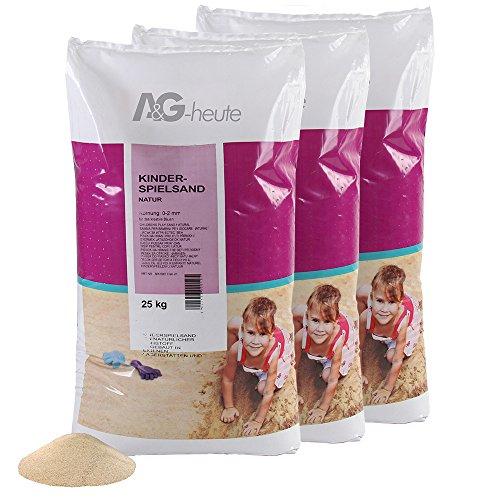 A&G-heute 75kg Spielsand Quarzsand für Kinder Sandkasten Dekosand geprüft gesiebt top Farbe beige Qualität