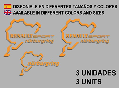 Ecoshirt PB-C31J-HZGD stickers Renault Sport Nürburgring F25 stickers decals autocollants Adesivi Rallye Orange