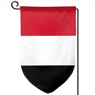 ONGH Bandera de Yemen 12.5 x 18 Pulgadas Bandera de jardín Impermeable Patio de Doble Cara Decorativo al Aire Libre