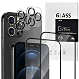 TECHO Unbreakable Screen Protector Compatible with iPhone 12 Pro Max (5X Impact Protection) (Edge to Edge Full Coverage) and Tempered Glass Camera Lens Protector Film (2 PACK) (6.7 inch)