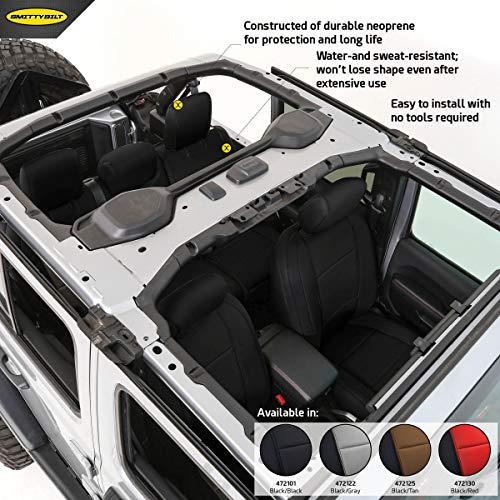 Smittybilt 472101 Black Neoprene Seat Covers for 2018+ Jeep Wrangler JL 4-Door