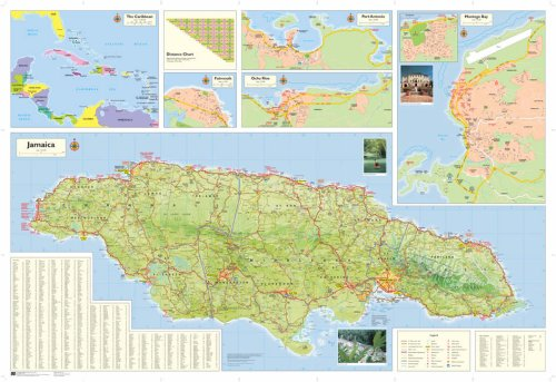 Shell Road Map of Jamaica free download