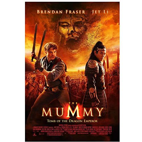 The Mummy: Tomb of the Dragon Emperor Película Carteles en HD Pinturas impresas en lienzo Pinturas artísticas de pared para sala de estar -24x32 pulgadas Sin marco