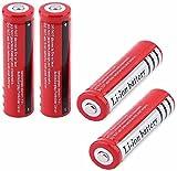 N / E Bateria 18650 3000mah 3.7 V Recargables Button Top Battery Pilas Recargables Litio Bateria Li-Ion Battery BotóN De La BateríA Superior 1500 Ciclos De Carga para Linterna 18650 Rojo