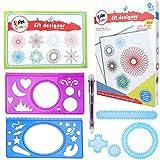 Spiral Zeichnung Lineal DIY Kreative Kunststoff Spirograph Zeichnung Set geometrische Lineal Vorlage Schreibwaren für Kinder Schule Zubehör -