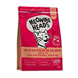 Meowing Heads Barking Heads Comida Seca para Gatos - So-Fish-Ticated Salmon - 100% Natural, Salmón Y Pollo Sin Aromas Artificiales, Ayuda A Mejorar La Digestión, 450 G 450 g