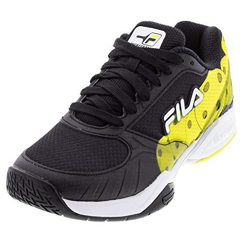 Fila Men's Volley Zone Pickleball Shoe (Blk/Wht/Sfty, 10.5)