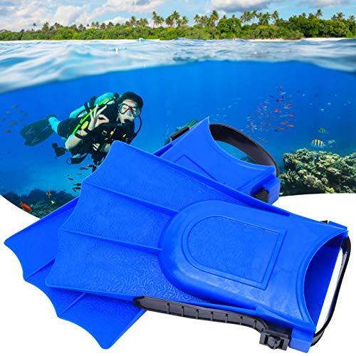 FOLOSAFENAR Aletas de Buceo Drenaje rápido Práctico, para Nadar(Blue, 25 Yards -30 Yards)
