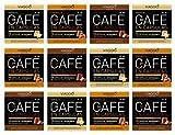 Viaggio Espresso Cápsulas de café compatibles con máquinas Nespresso Selección con sabor (120 Cápsulas)
