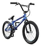 Mongoose Title Pro XXL BMX Race Bike, 20-Inch Wheels, Beginner to Intermediate Riders, Lightweight Aluminum Frame, Internal Cable Routing, Silver