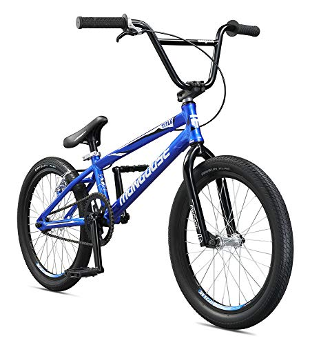 Mongoose Title Pro XXL BMX Race Bike, 20-Inch Wheels, Beginner to Intermediate Riders, Lightweight Aluminum Frame, Internal Cable Routing, Blue