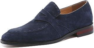 TAZAN Chaussures Mocassins en Daim Homme Summer 2019,Homme Conduite Chaussures Suède Cuir Mocassin Chaussures Penny Loafer...