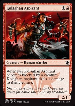 Magic The Gathering - Kolaghan Aspirant (143/264) - Dragons of Tarkir