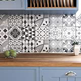 Ze Flair Stickers Cuisine et Salle de Bain, Carrelage adhesif Mural, Imitation...